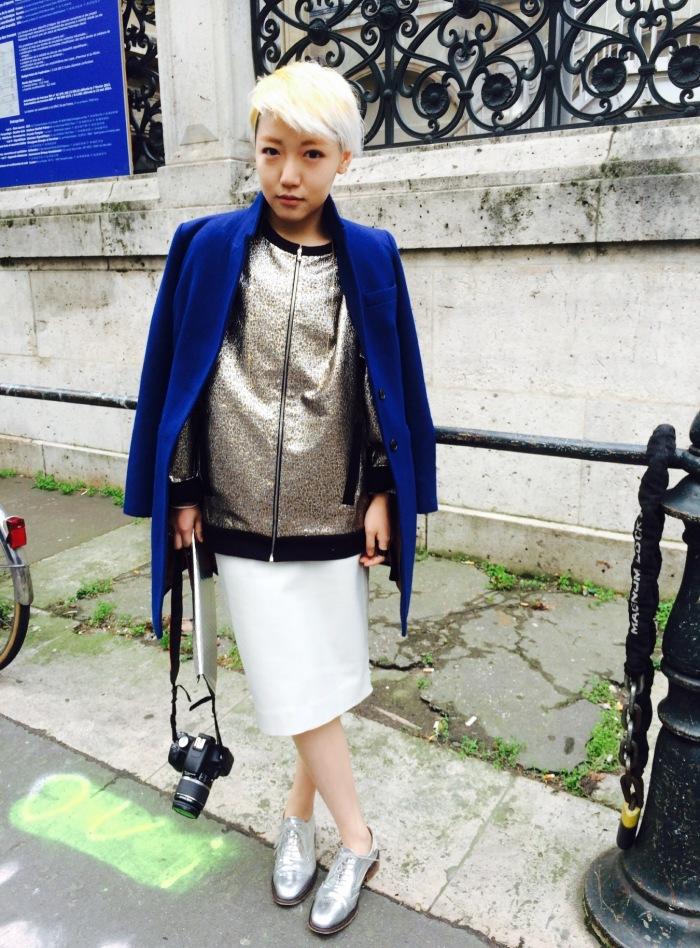 Mod Art student at fashion week